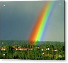 Acrylic Print featuring the photograph The Rainbow Apartments by Ben Upham III