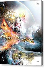 The Rainbow Serpent Acrylic Print