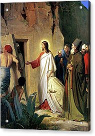 The Raising Of Lazarus Acrylic Print by Carl Bloch