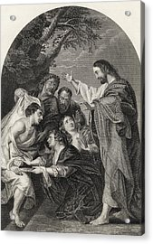 The Raising Of Lazarus Engraved By S Acrylic Print