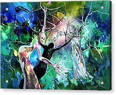 The Raising Of Lazarus Acrylic Print by Miki De Goodaboom