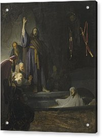 The Raising Of Lazarus Acrylic Print by Rembrandt