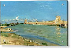 The Ramparts At Aigues Mortes Acrylic Print