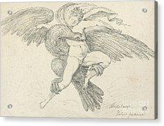 The Rape Of Ganymede Acrylic Print by Jean-Honore Fragonard
