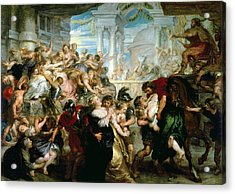 The Rape Of The Sabine Women Acrylic Print by Peter Paul Rubens