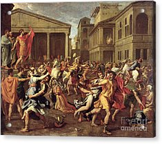 The Rape Of The Sabines Acrylic Print by Nicolas Poussin