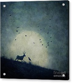 The Raven And The Stag Acrylic Print
