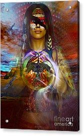 the RAVEN  spirit Acrylic Print by Shadowlea Is