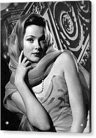 The Razors Edge, Gene Tierney, 1946 Acrylic Print by Everett