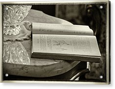 The Reading Table Acrylic Print