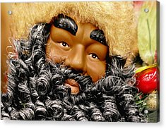 The Real Black Santa Acrylic Print by Christine Till
