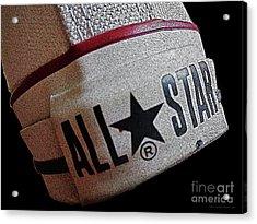 The Converse All Star Rear Label. Acrylic Print by Don Pedro De Gracia
