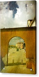 Acrylic Print featuring the photograph The Red Archway by Anne Kotan