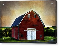 Acrylic Print featuring the mixed media The Red Barn by Gary Smith
