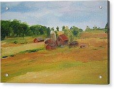 The Red Barn Acrylic Print by Lisa Konkol