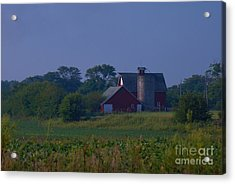 The Red Barn Acrylic Print by Michelle Hastings