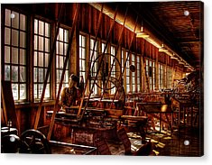 The Red Barn Of The Boeing Company Iv Acrylic Print