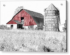 The Red Barn - Sketch 0004 Acrylic Print