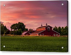 Acrylic Print featuring the photograph The Red Barn by TL Mair