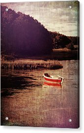 The Red Boat Acrylic Print by JAMART Photography