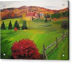The Red Bush Acrylic Print by Gloria Condon