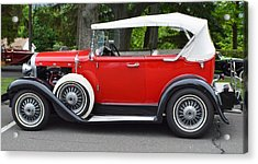 The Red Convertible Acrylic Print