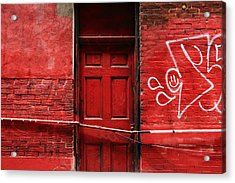 The Red Door Bar Acrylic Print by Kreddible Trout