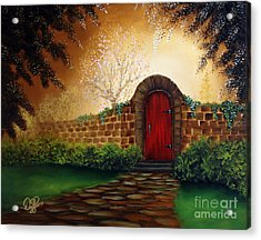 The Red Door Acrylic Print by David Kacey