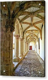 The Red Door In The Loggia Acrylic Print by Kirsten Giving