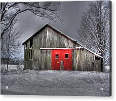 The Red Door Acrylic Print by Maria Dryfhout