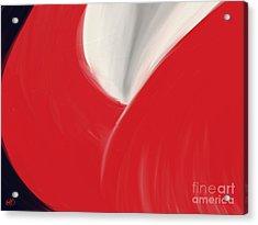 The Red Dress Acrylic Print by Roxy Riou