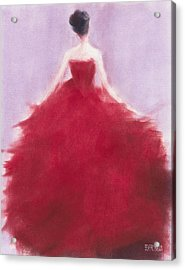 The Red Evening Dress Acrylic Print