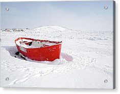 The Red Fishing Boat Acrylic Print