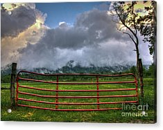 Acrylic Print featuring the photograph The Red Gate by Douglas Stucky