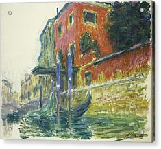 The Red House Acrylic Print by Claude Monet