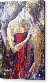The Red Kiss Acrylic Print by Beth Maddox