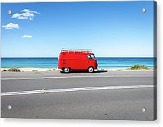 The Red Kombi Acrylic Print