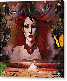 The Red Lady Shore Acrylic Print
