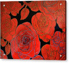 The Red Red Roses Acrylic Print