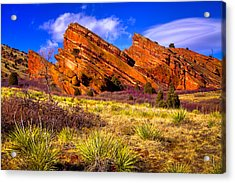 The Red Rock Park Vi Acrylic Print by David Patterson
