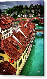 The Red Rooftops Of Bern Switzerland  Acrylic Print