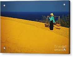 The Red San Dunes Of Mui Ne Vietnam Acrylic Print