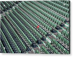 The Red Seat Of Fenway Acrylic Print