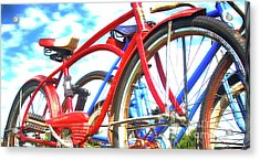The Red Shelby  Acrylic Print by Steven Digman
