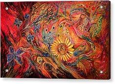The Red Sirocco Acrylic Print by Elena Kotliarker