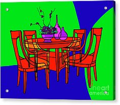 The Red Table Acrylic Print