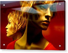 The Red Twins Acrylic Print by Jez C Self