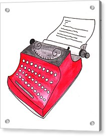 The Red Typewriter Acrylic Print
