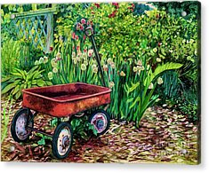 The Red Wagon Acrylic Print