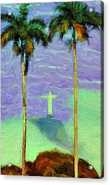 The Redeemer Acrylic Print by Caito Junqueira